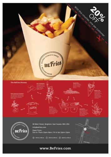 Befries Eatery - Magazine Display Advertising