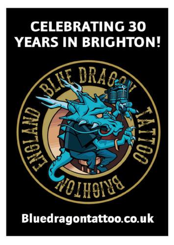 Blue Dragon Tattoo Artist - Magazine Display Advertising