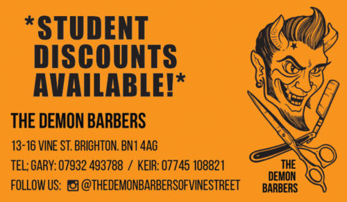 The Demon Barbers, Brighton - Magazine Display Advertising