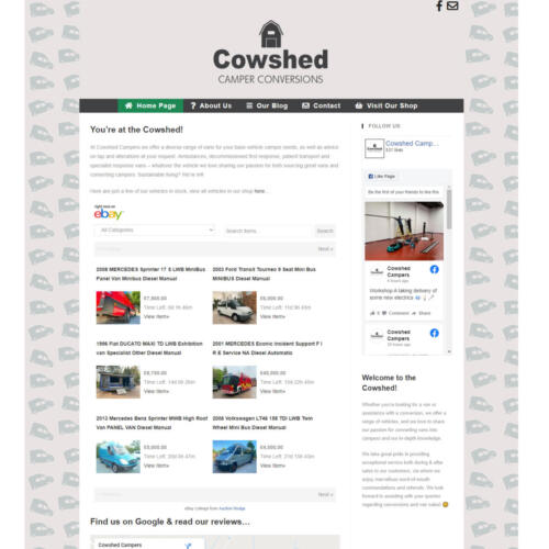 Cowshed Campers, Camper Renovation Company - Website