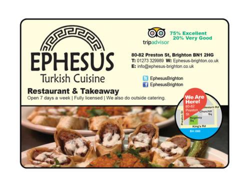 Ephesus Restaurant - Magazine Display Advertising