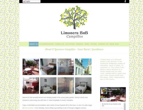 Limonero BnB Spain - Website
