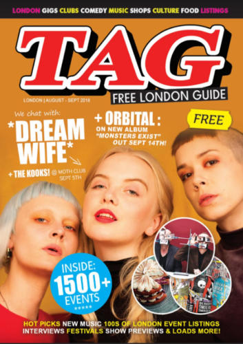London's TAG Magazine - Magazine Front Cover Production