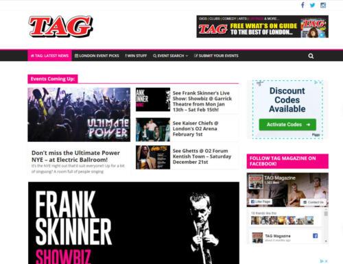 London's TAG Magazine - Website