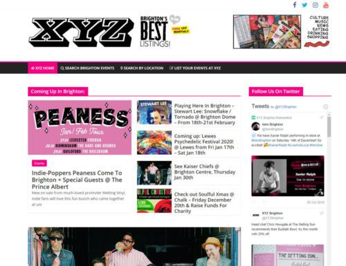 Brighton's XYZ Magazine - Website
